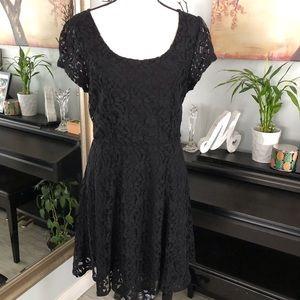 Kimchi Blue | Black Lace Flare dress